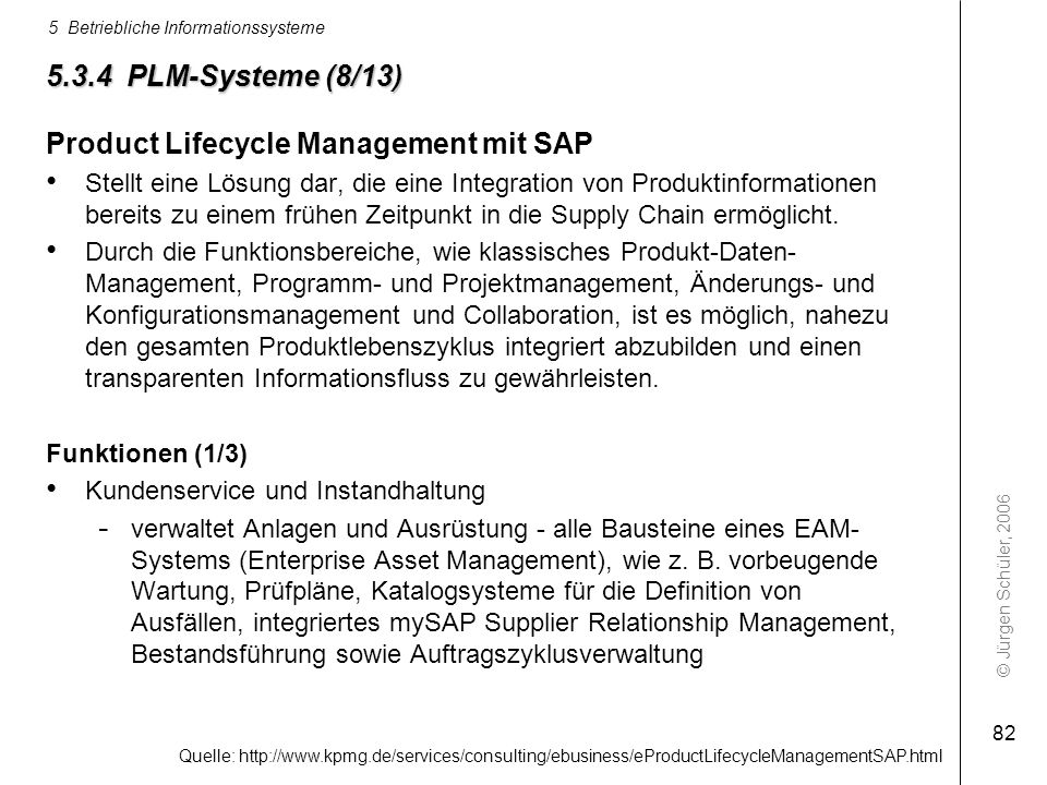 Product Lifecycle Management mit SAP