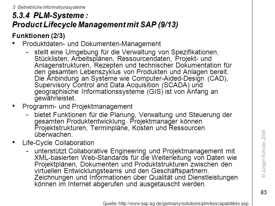 5.3.4 PLM-Systeme : Product Lifecycle Management mit SAP (9/13)