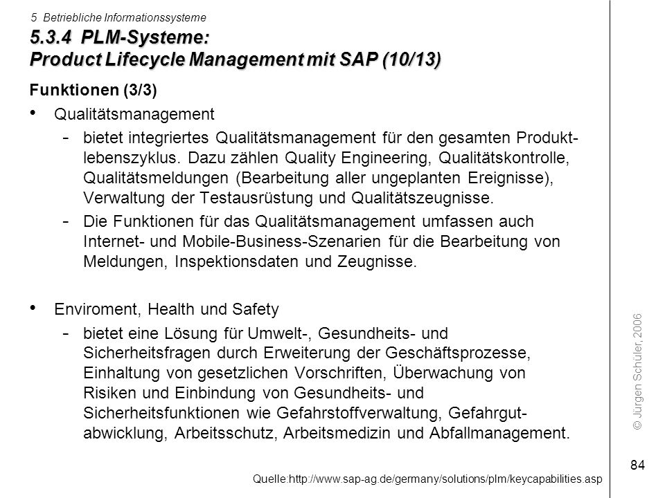 5.3.4 PLM-Systeme: Product Lifecycle Management mit SAP (10/13)