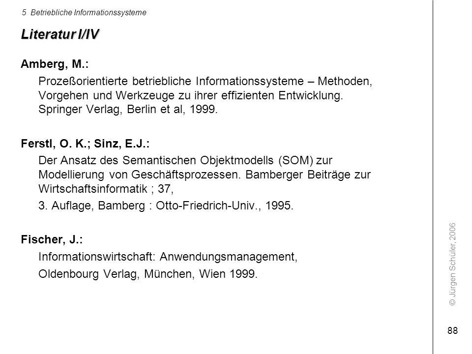 Literatur I/IV Amberg, M.: