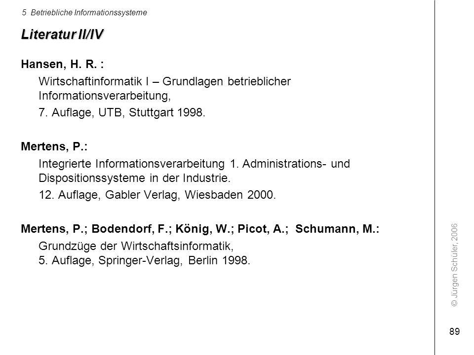 Literatur II/IV Hansen, H. R. :