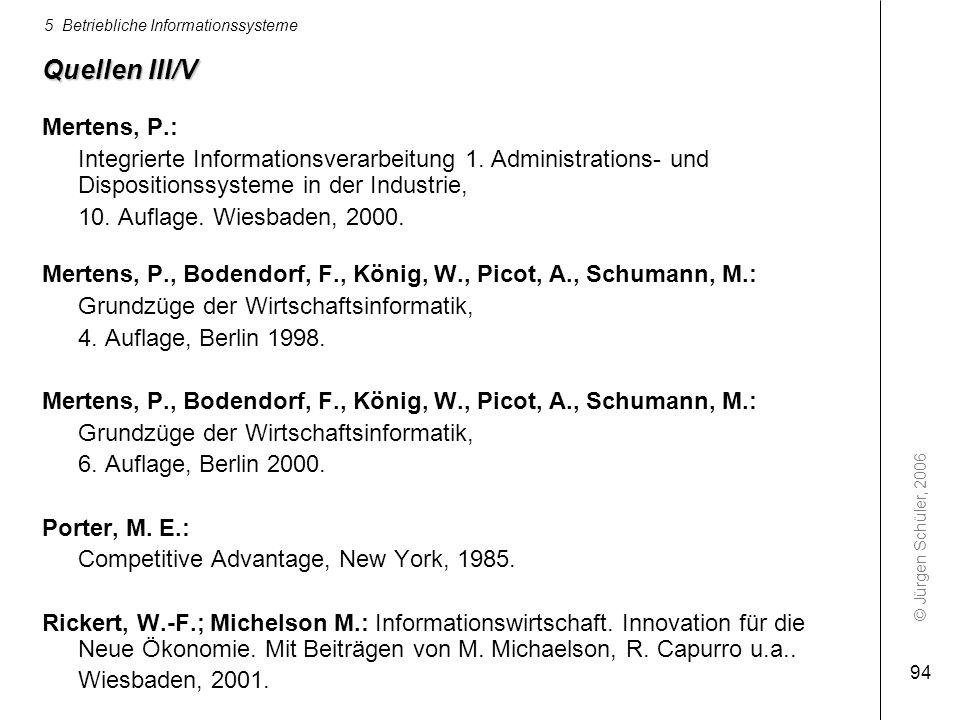Quellen III/V Mertens, P.: