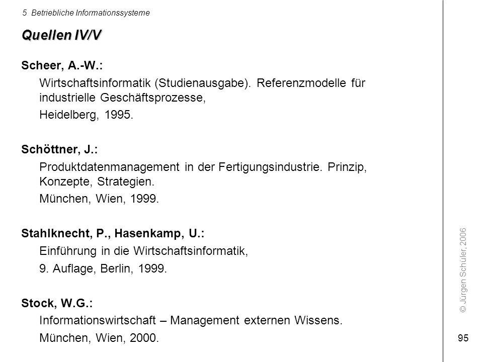 Quellen IV/V Scheer, A.-W.: