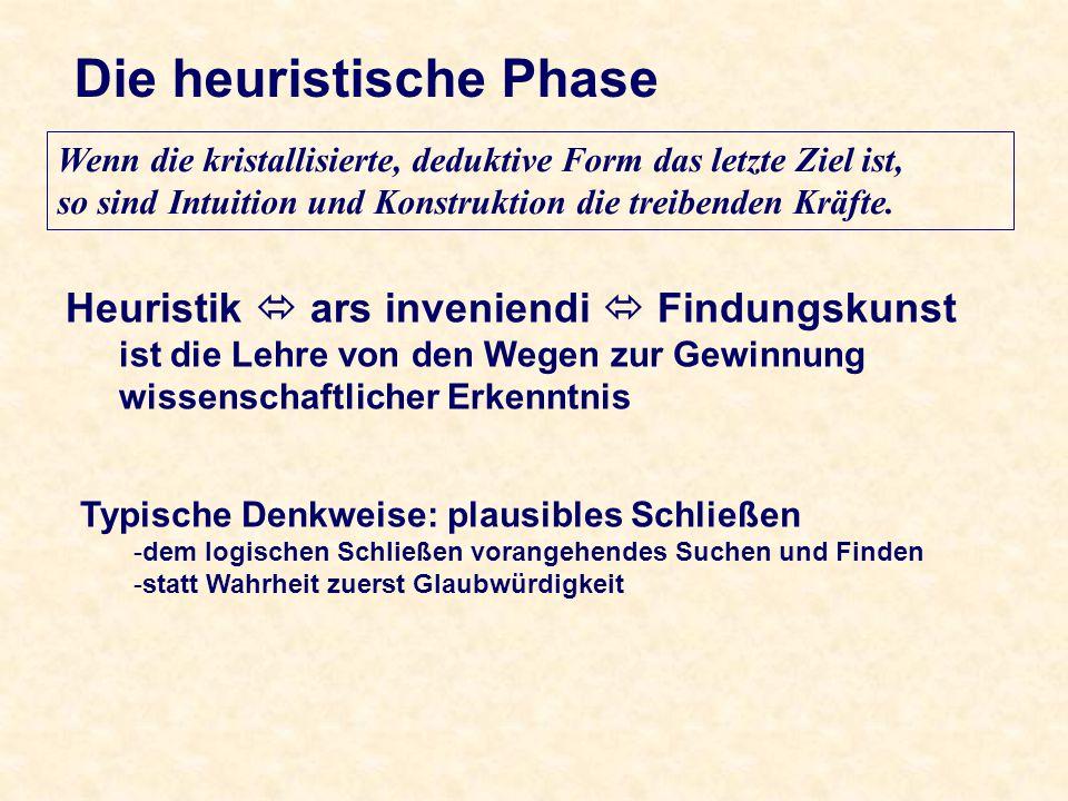 Die heuristische Phase