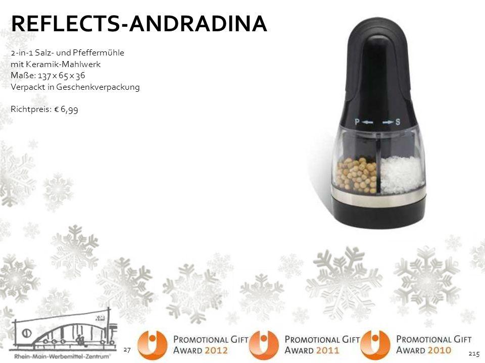 REFLECTS-ANDRADINA 2-in-1 Salz- und Pfeffermühle