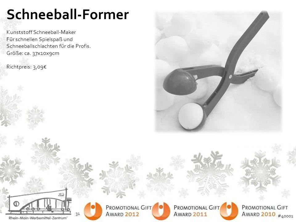 Schneeball-Former Kunststoff Schneeball-Maker Für schnellen Spielspaß und Schneeballschlachten für die Profis. Größe: ca. 37x10x9cm.