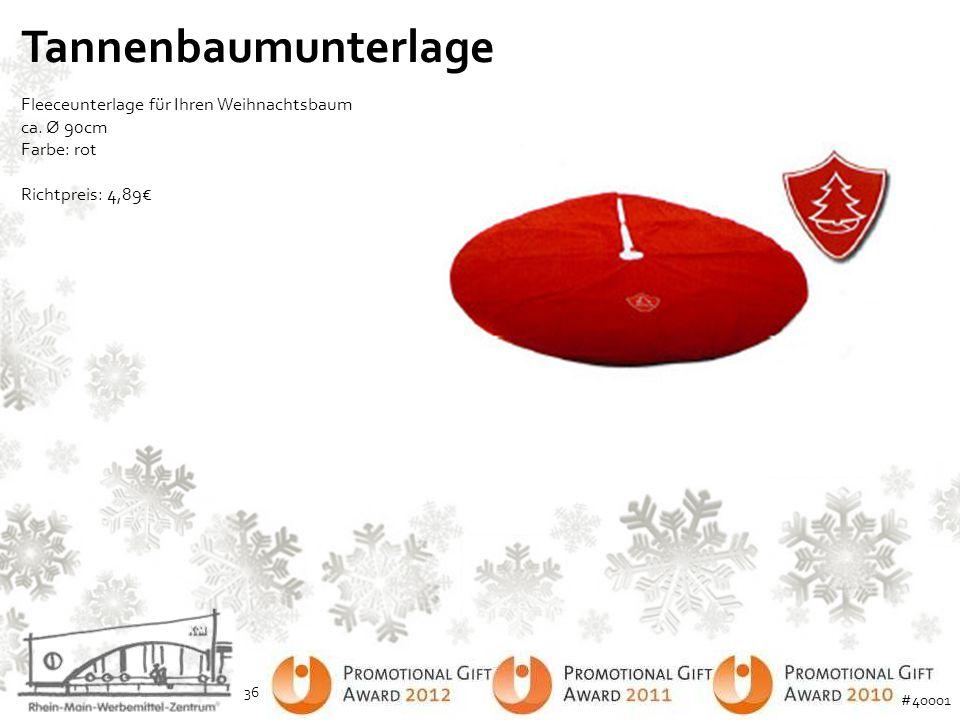 Tannenbaumunterlage Fleeceunterlage für Ihren Weihnachtsbaum ca. Ø 90cm Farbe: rot. Richtpreis: 4,89€
