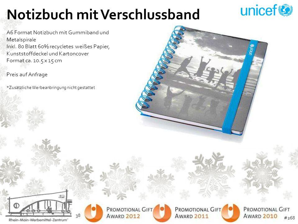 Notizbuch mit Verschlussband