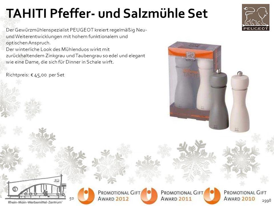 TAHITI Pfeffer- und Salzmühle Set