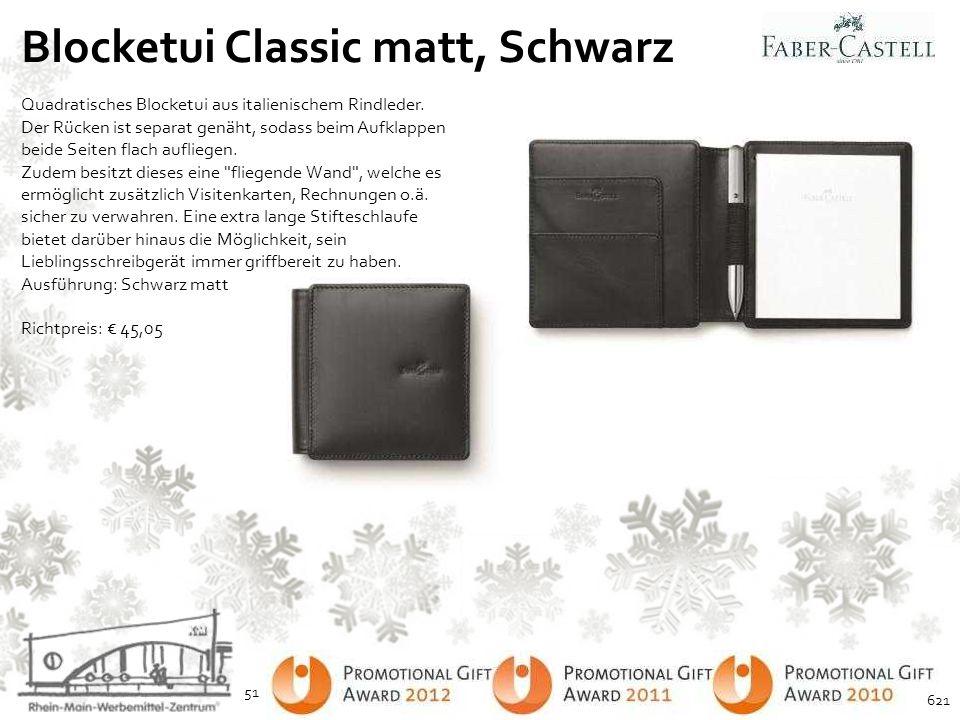 Blocketui Classic matt, Schwarz