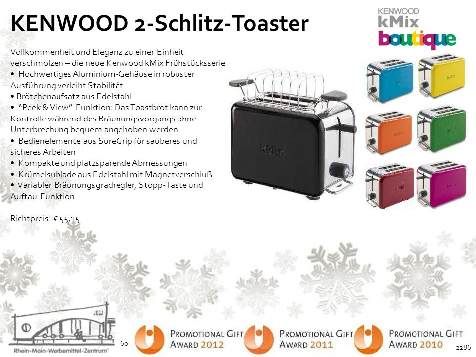 KENWOOD 2-Schlitz-Toaster