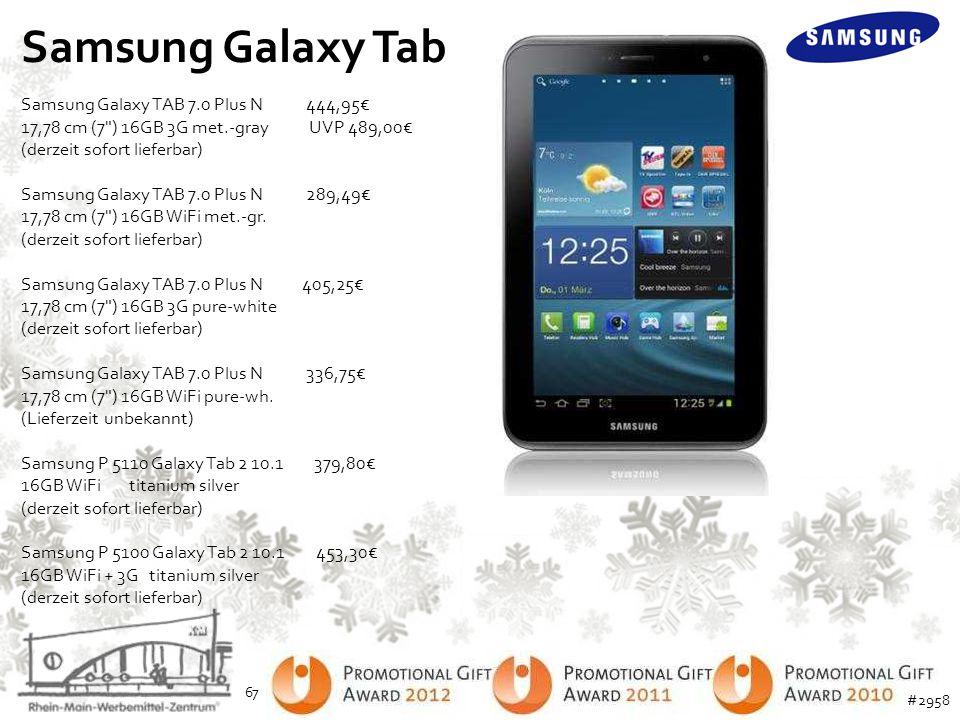 Samsung Galaxy Tab Samsung Galaxy TAB 7.0 Plus N 444,95€