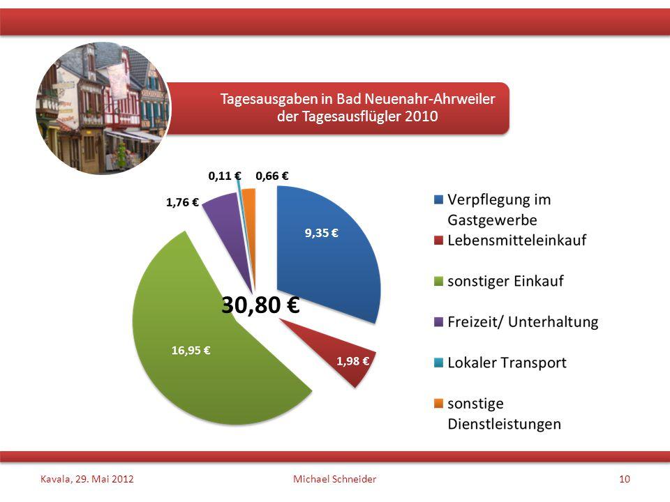 Tagesausgaben in Bad Neuenahr-Ahrweiler der Tagesausflügler 2010