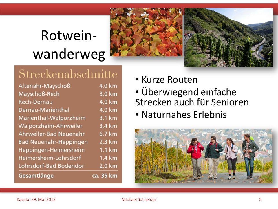 Rotwein- wanderweg Kurze Routen
