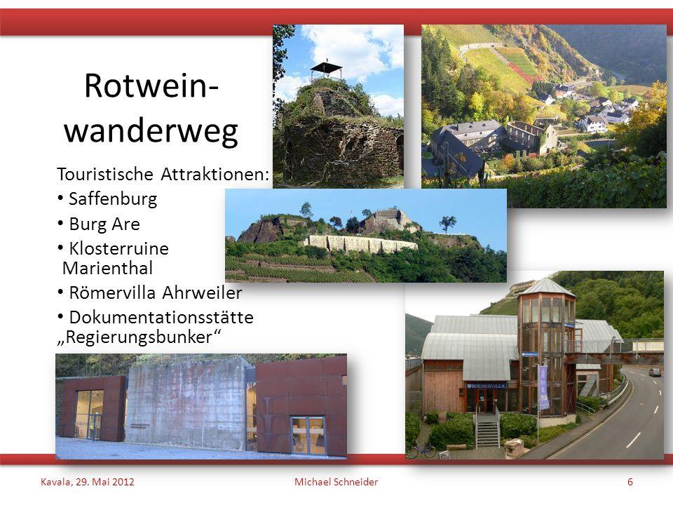 Rotwein- wanderweg Touristische Attraktionen: Saffenburg Burg Are