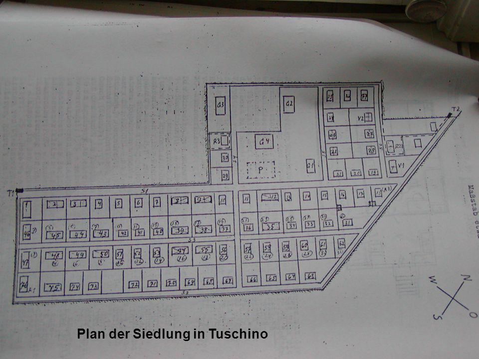 Plan der Siedlung in Tuschino