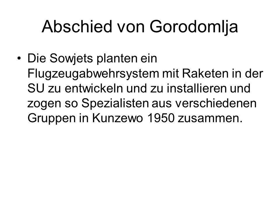 Abschied von Gorodomlja