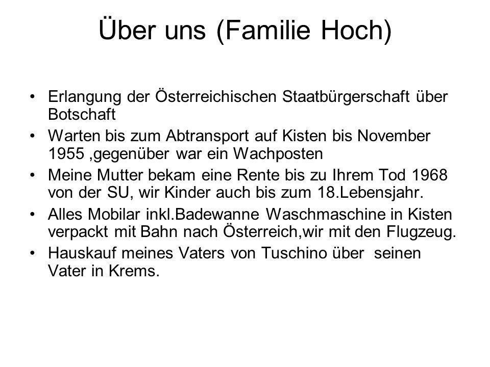 Über uns (Familie Hoch)