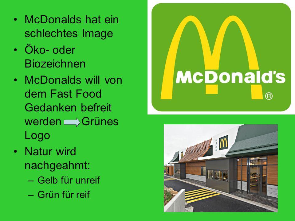 McDonalds hat ein schlechtes Image Öko- oder Biozeichnen