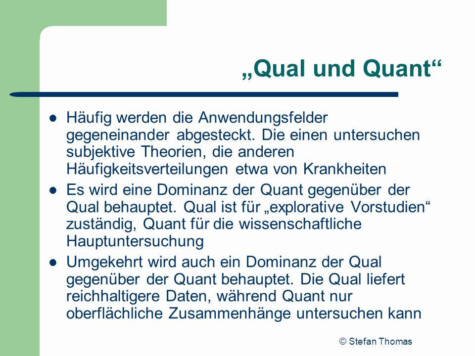 """""""Qual und Quant"""