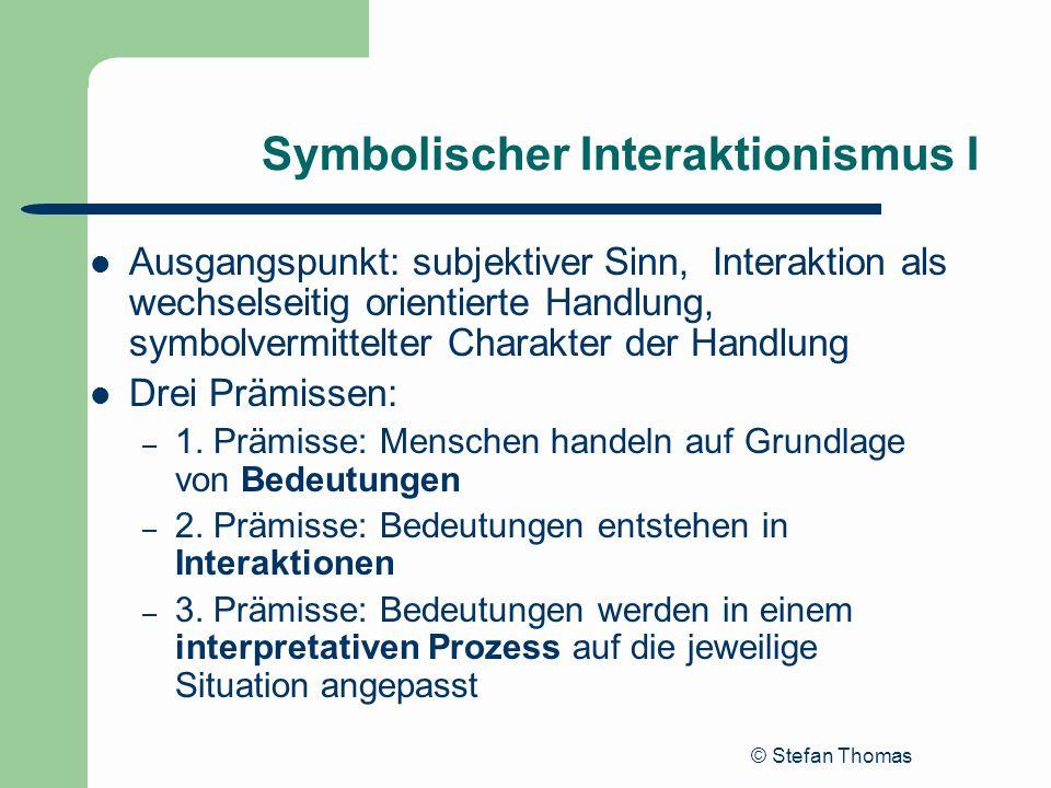 Symbolischer Interaktionismus I
