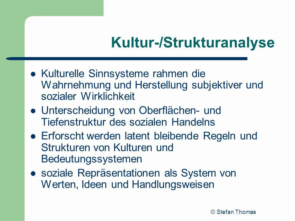 Kultur-/Strukturanalyse