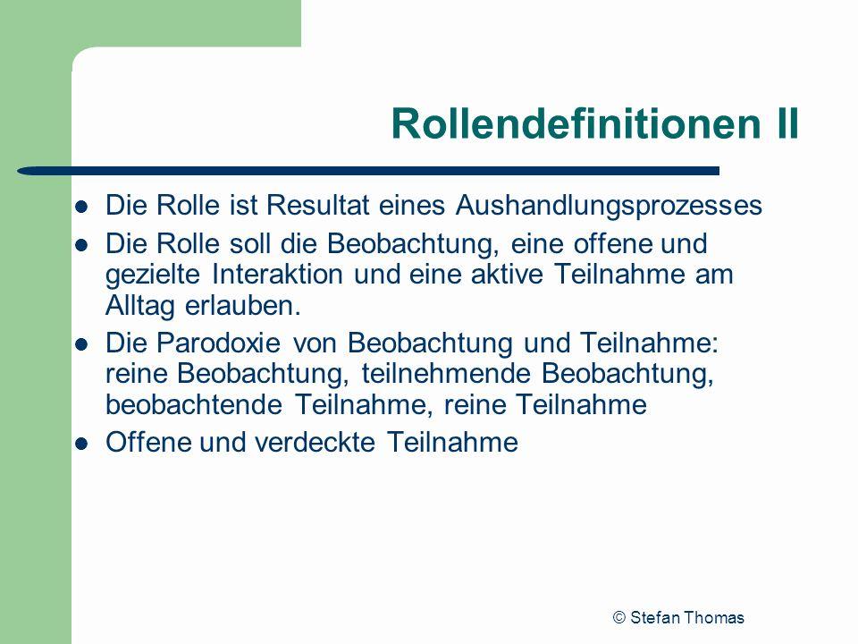 Rollendefinitionen II