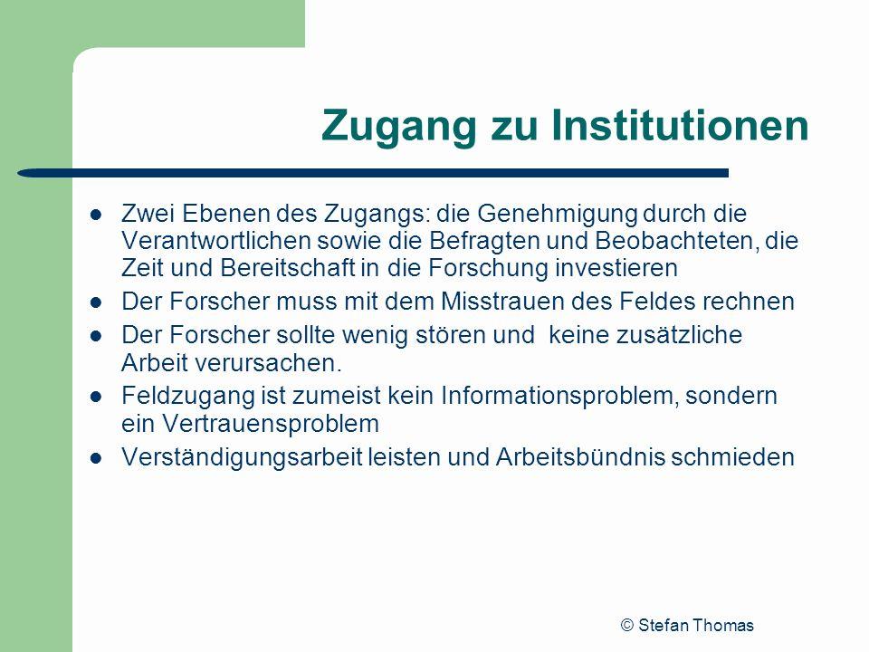 Zugang zu Institutionen