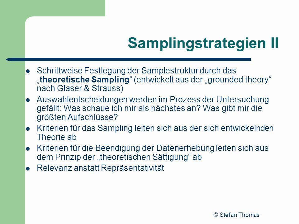 Samplingstrategien II