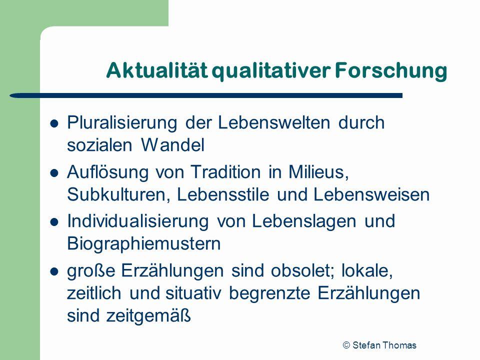 Aktualität qualitativer Forschung