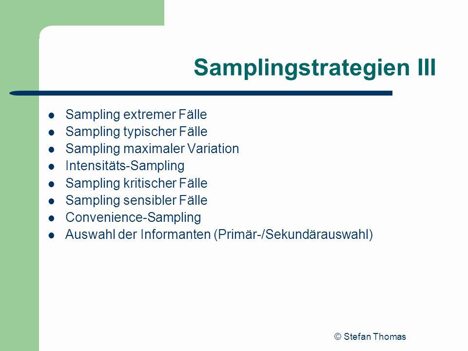 Samplingstrategien III