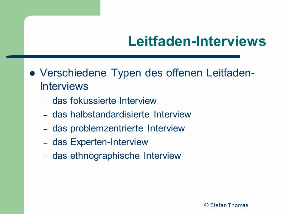 Leitfaden-Interviews