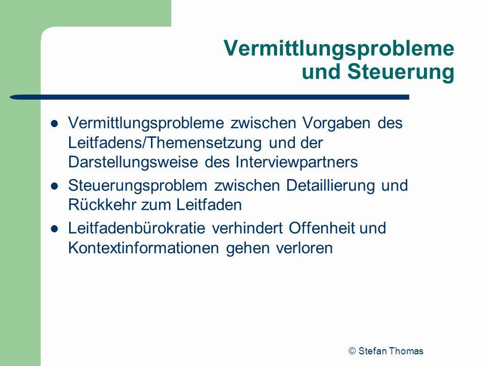 Vermittlungsprobleme und Steuerung