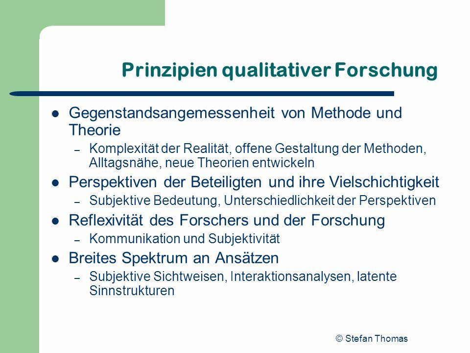 Prinzipien qualitativer Forschung