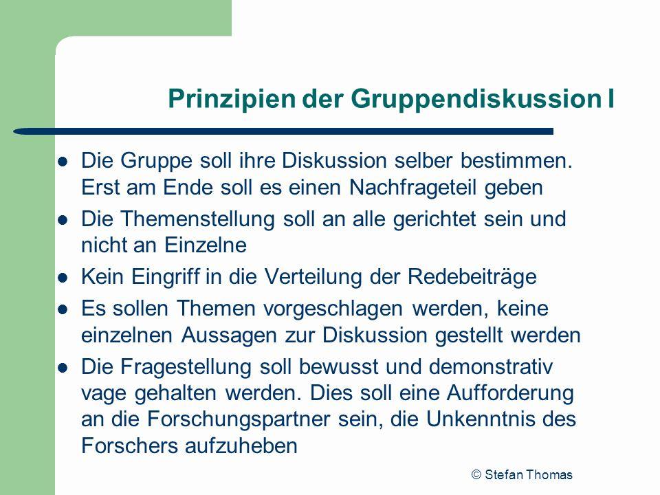 Prinzipien der Gruppendiskussion I