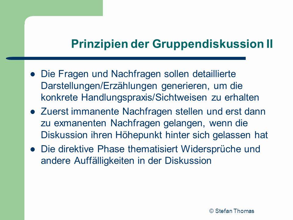 Prinzipien der Gruppendiskussion II