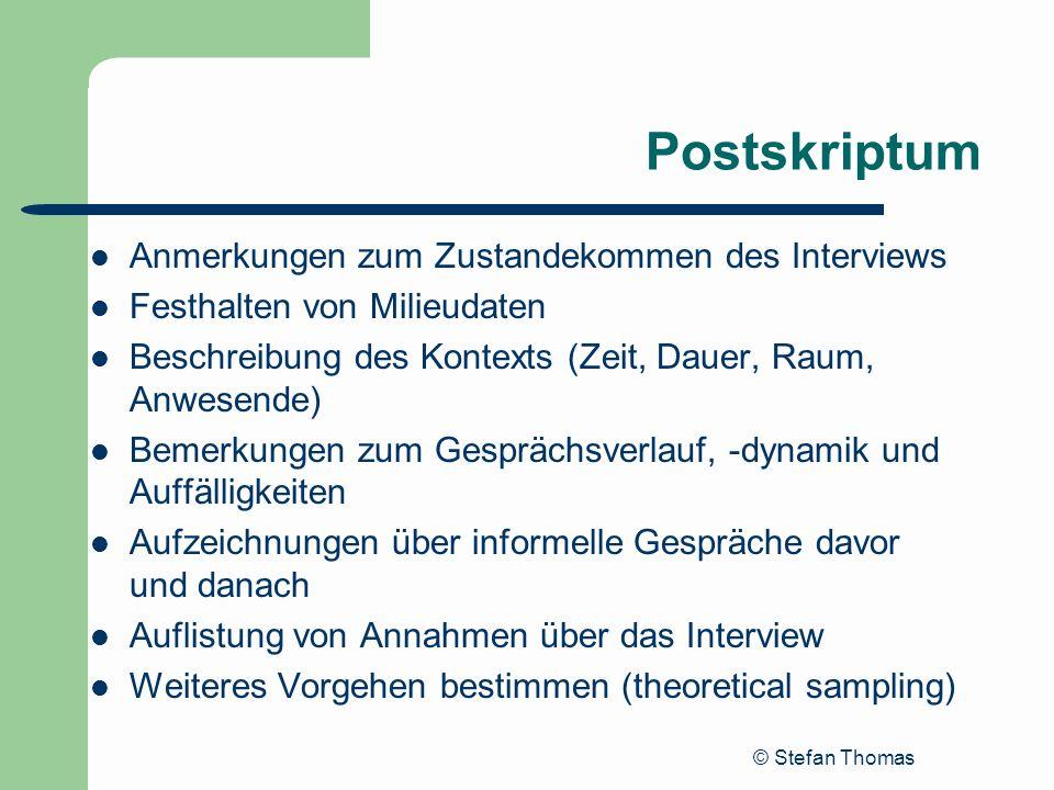 Postskriptum Anmerkungen zum Zustandekommen des Interviews