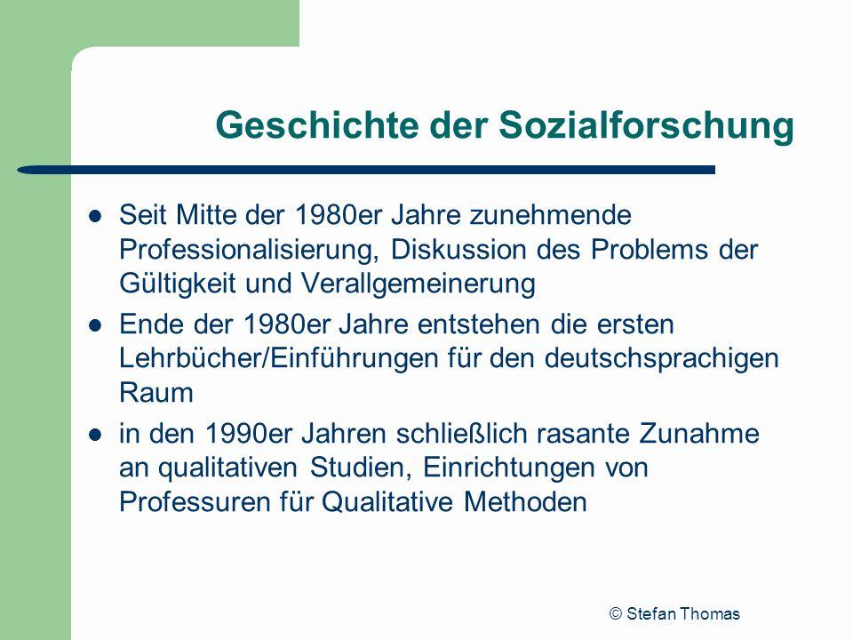 Geschichte der Sozialforschung