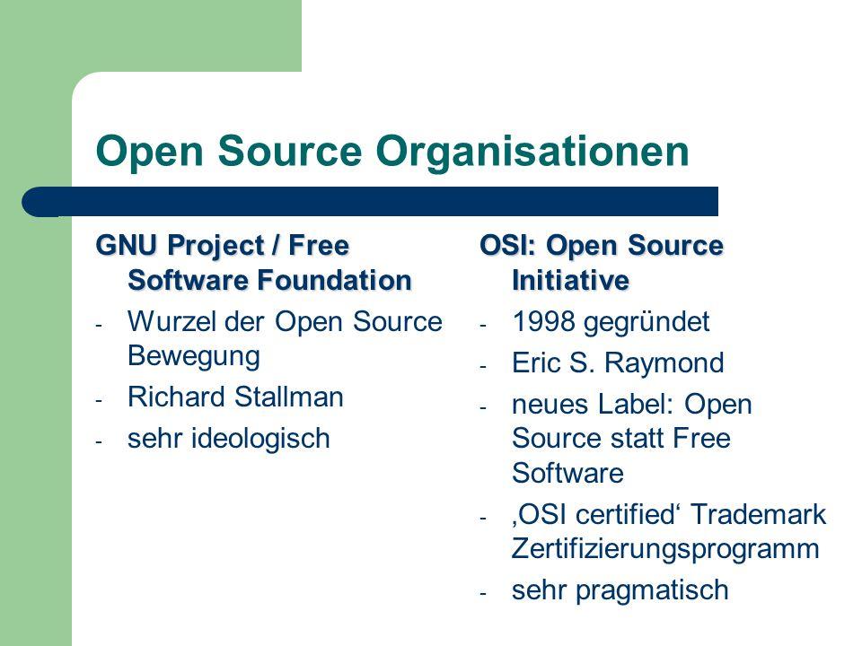 Open Source Organisationen