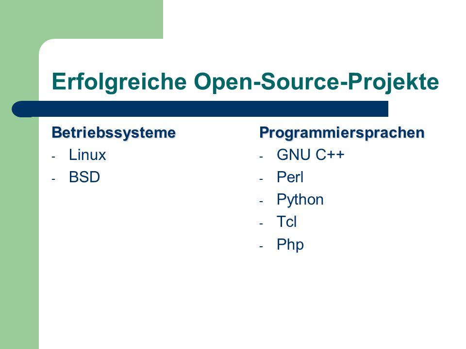 Erfolgreiche Open-Source-Projekte