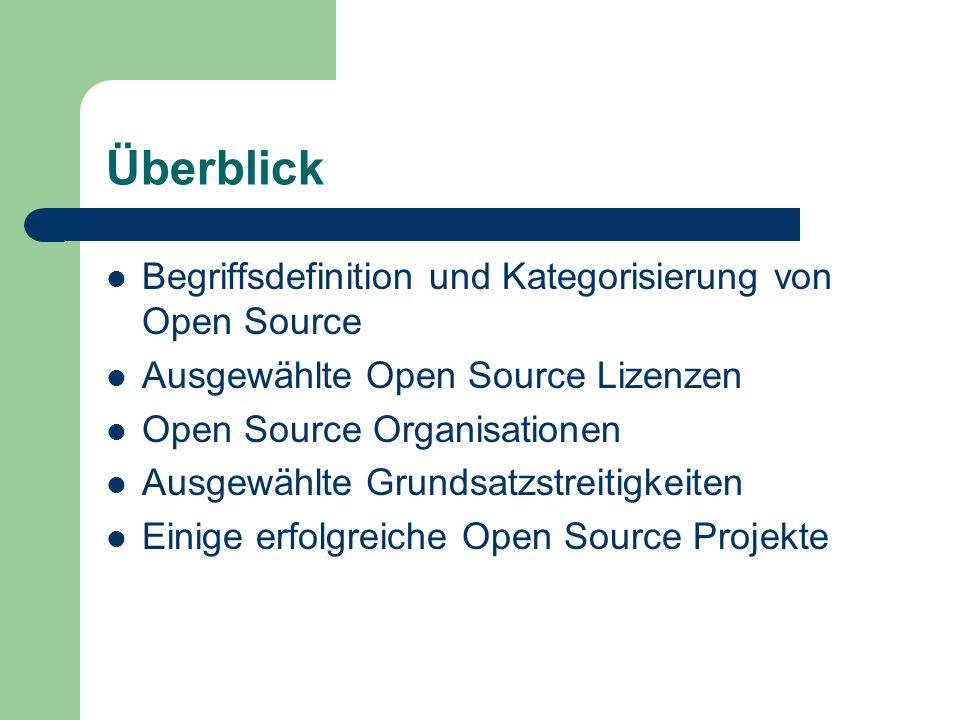 Überblick Begriffsdefinition und Kategorisierung von Open Source