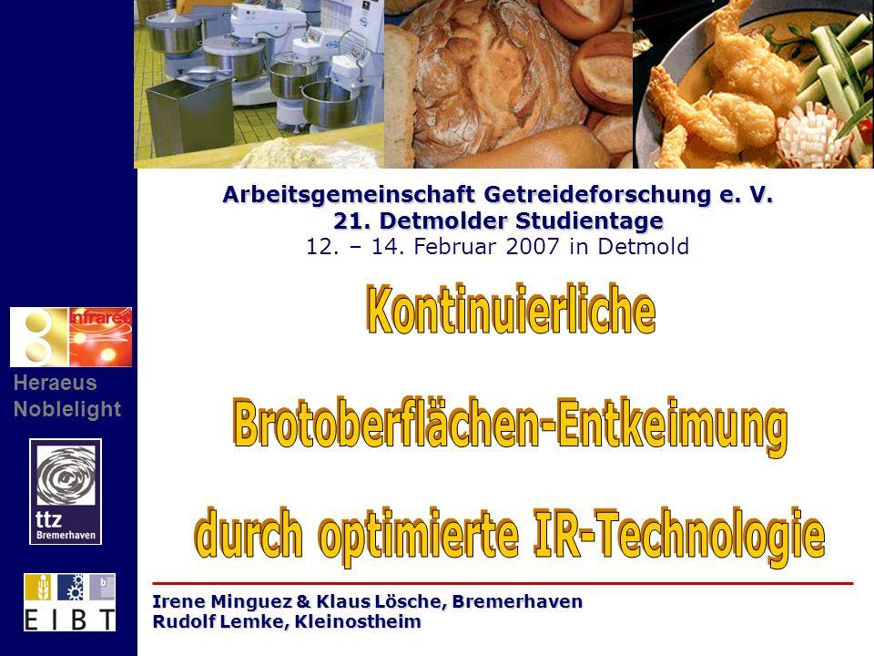 Arbeitsgemeinschaft Getreideforschung e. V. 21. Detmolder Studientage