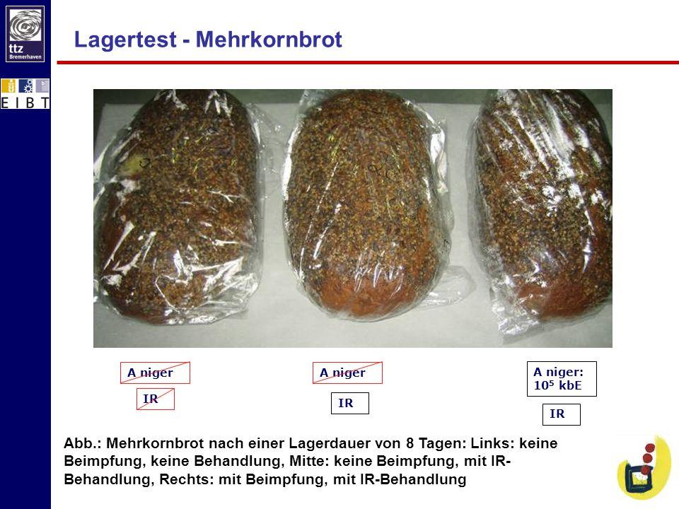 Lagertest - Mehrkornbrot