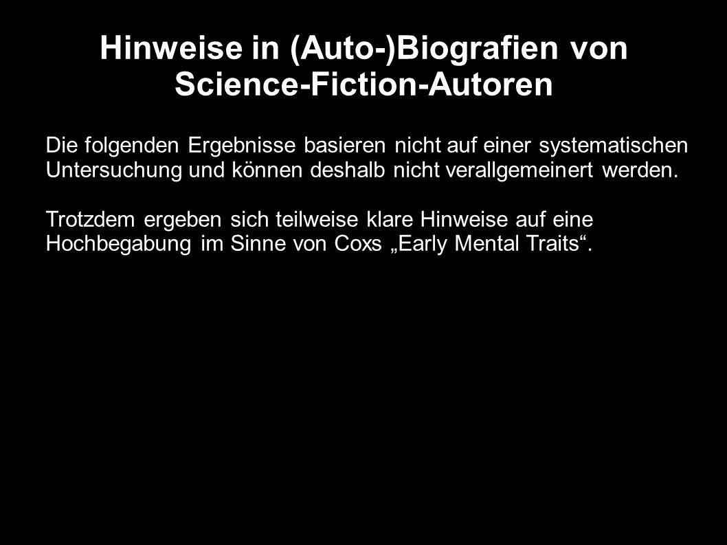 Hinweise in (Auto-)Biografien von Science-Fiction-Autoren