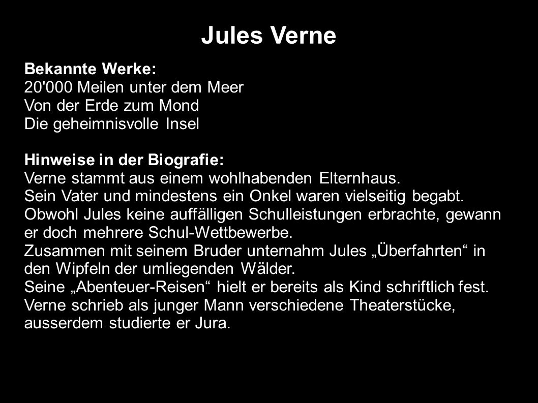 Jules Verne Bekannte Werke: 20 000 Meilen unter dem Meer
