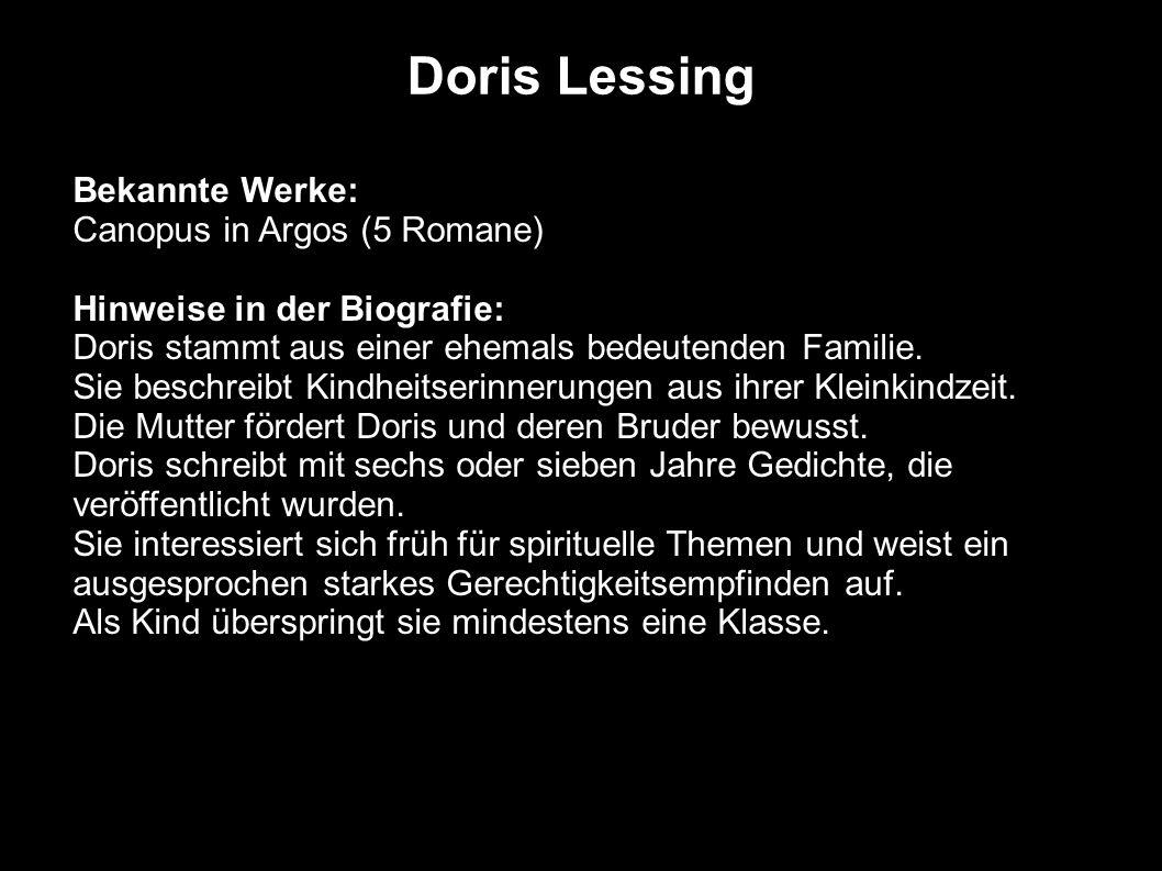 Doris Lessing Bekannte Werke: Canopus in Argos (5 Romane)