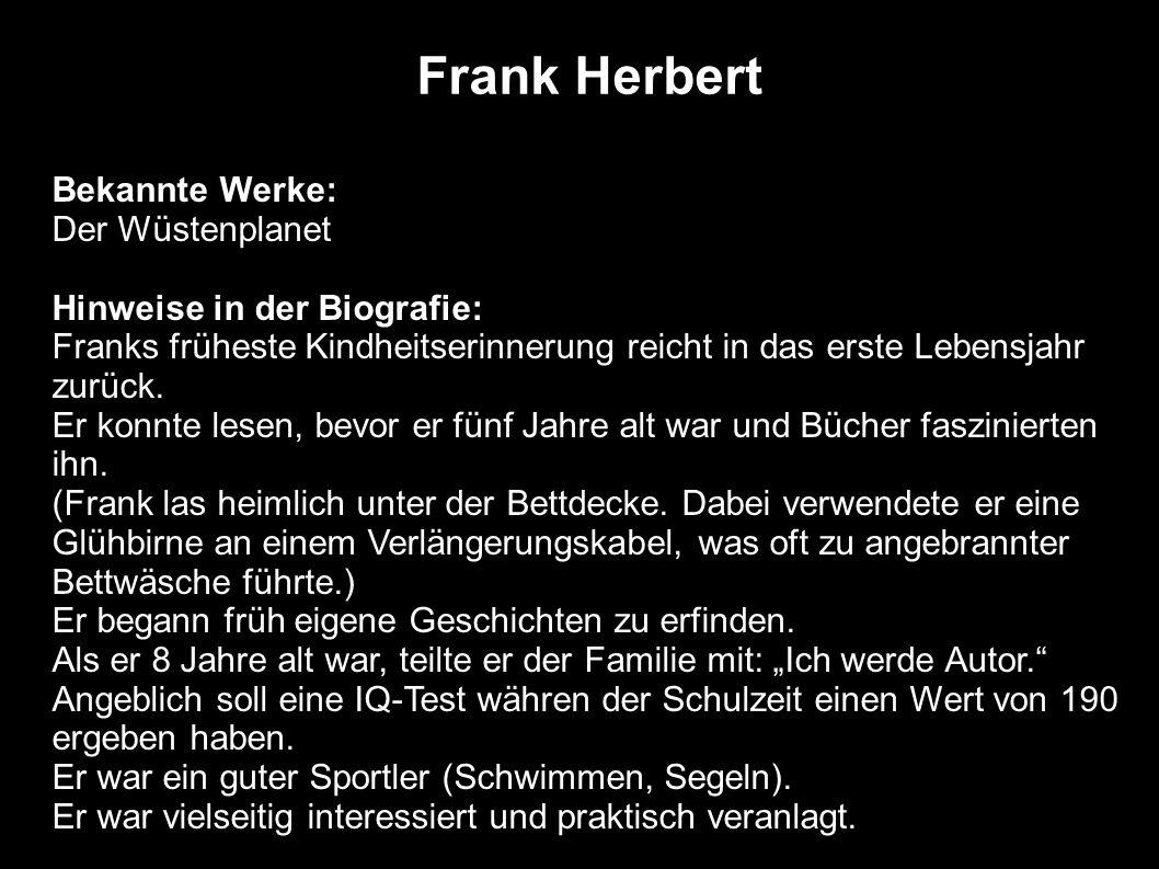 Frank Herbert Bekannte Werke: Der Wüstenplanet