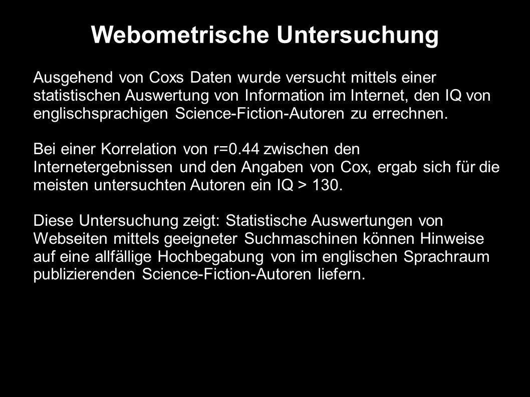Webometrische Untersuchung