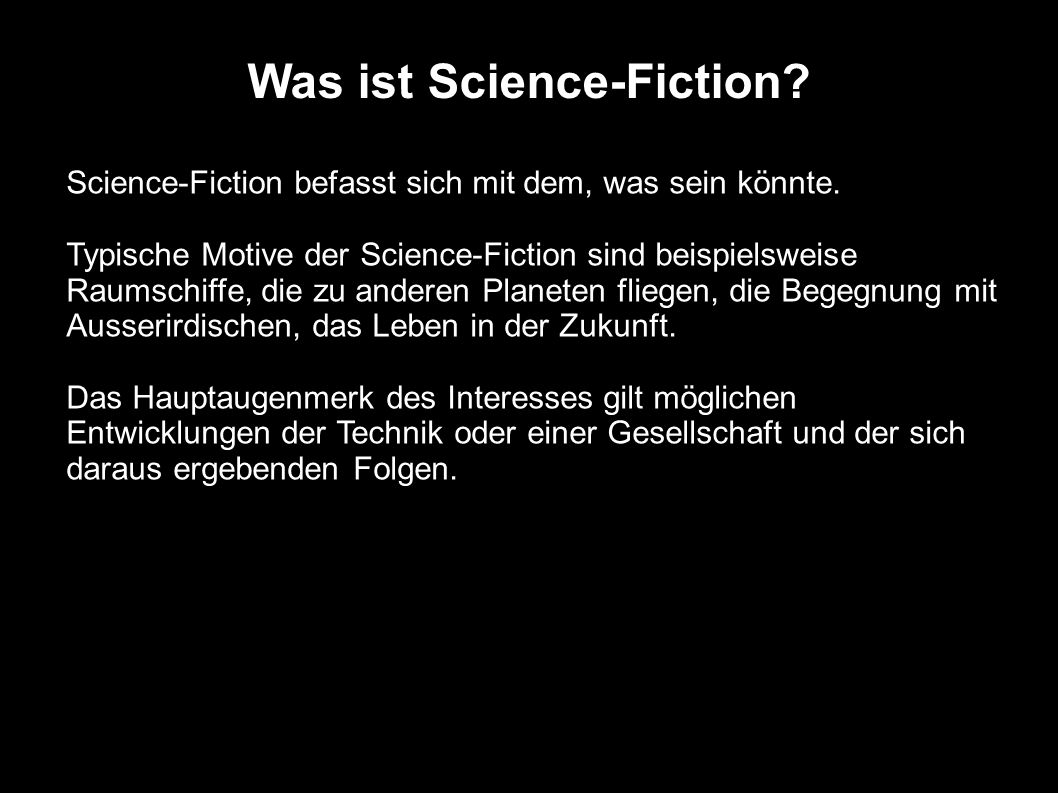 Was ist Science-Fiction