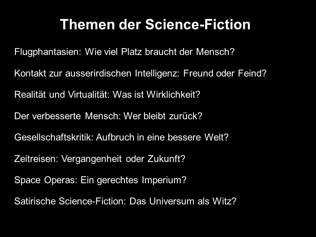 Themen der Science-Fiction